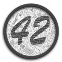 Logotype for 42-coin